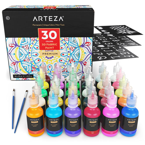 ARTEZA-3D-Permanent-Fabric-Paint